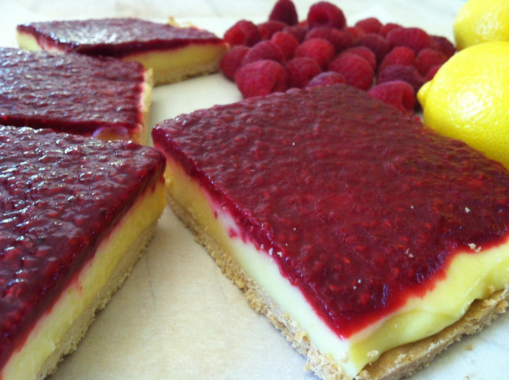 Lemon Raspberry Bars – Adapted Thomas Keller recipe (gluten free, dairy free, soy free)