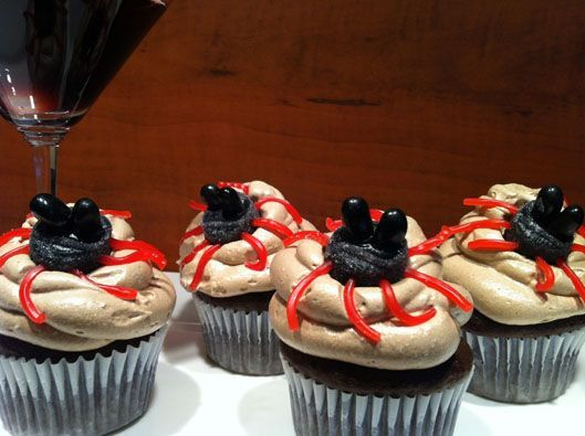 Chocolate Cupcakes with Creepy Crawlers