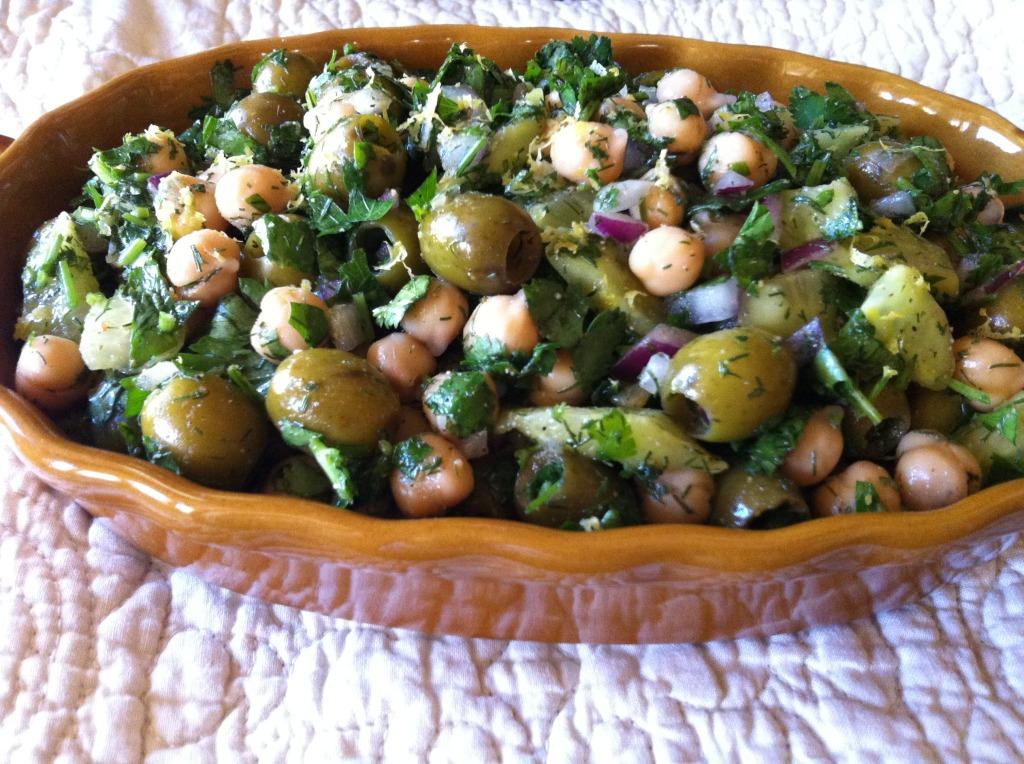 Olive Chickpea Salad