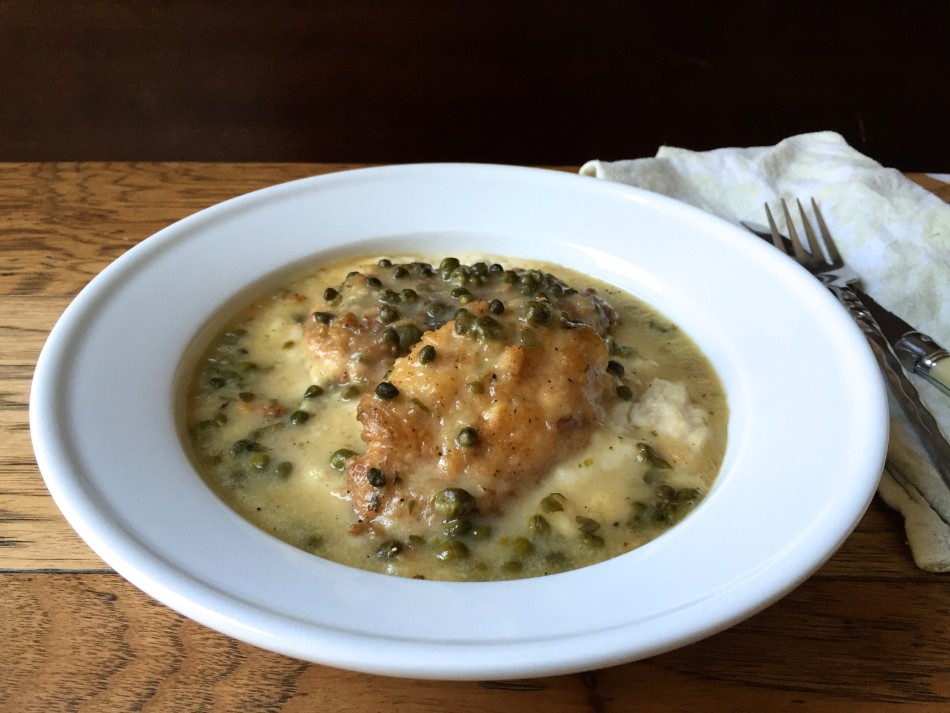 Chicken Piccata with Cauliflower Garlic Mash (gluten free, dairy free, soy free)