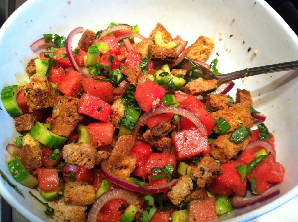 Watermelon Panzanella Salad