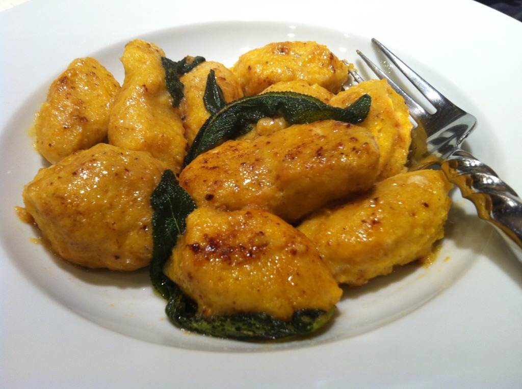 Pumpkin Dumplings w Sage Butter