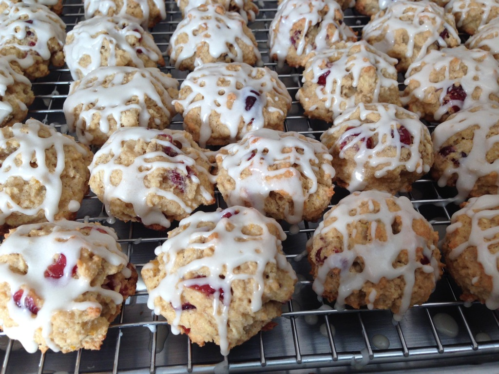 Oatmeal Cranberry Orange Glaze Holiday Cookies