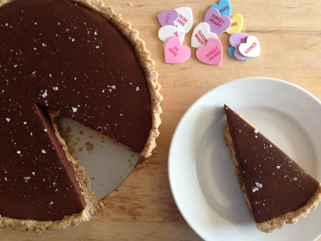 Peanut Butter Chocolate Tart with Maldon Sea Salt