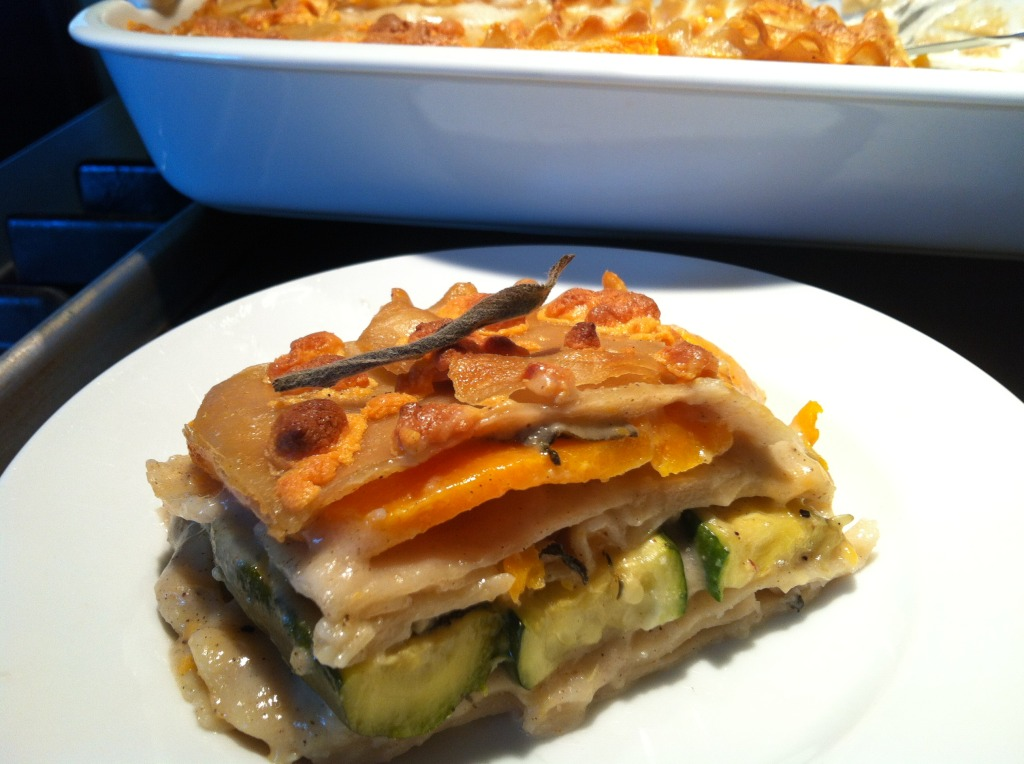 Butternut Squash and Zucchini Lasagna, hold the marinara