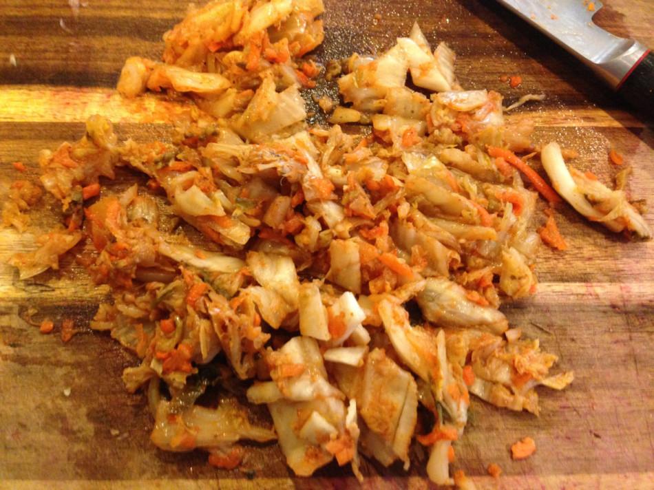 gluten free dairy free sweet potato kimchi hash