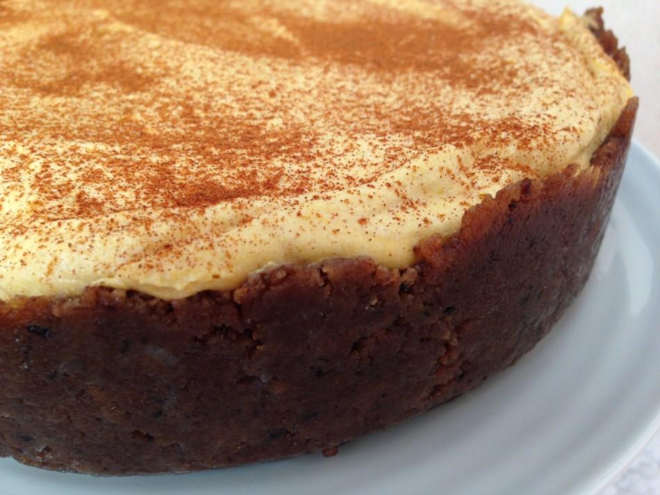 No Bake Pumpkin Cheesecake gluten free vegan From Jessica's Kitchen