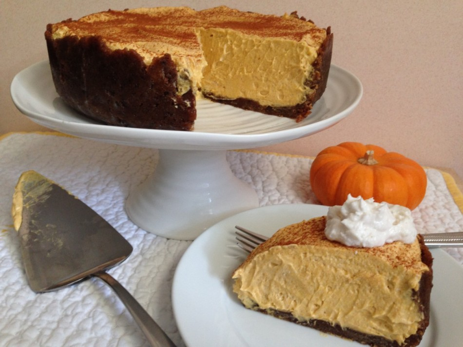 No Bake Pumpkin Cheesecake gluten free vegan From Jessica's Kitchen