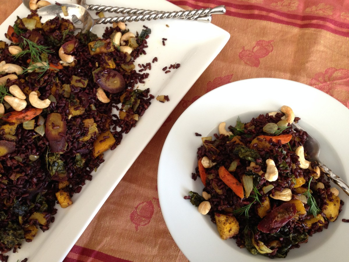 Curried Vegetables over Black Rice gluten free soy free vegan From Jessica's Kitchen