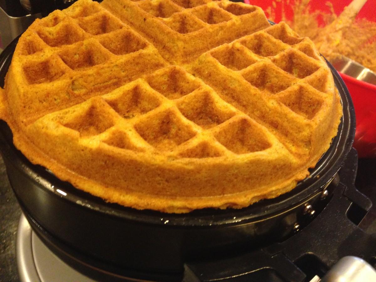pumpkin waffles gluten free dairy free egg free vegan