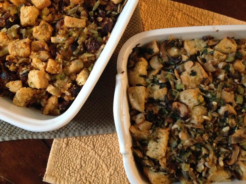 chorizo cornbread stuffing with pepitas thanksgiving recipes gluten free dairy free soy free