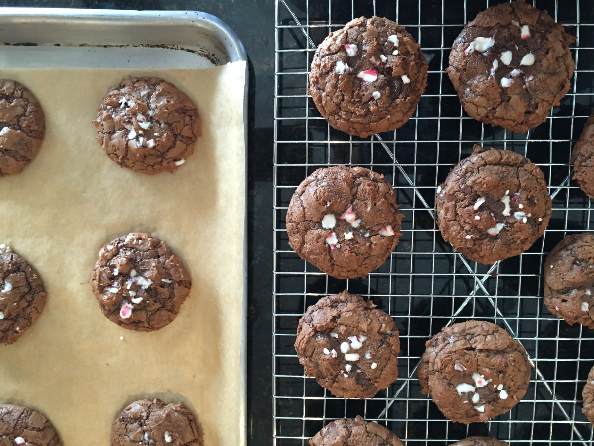 chocolate peppermint brookies cookies gluten free dairy free soy free
