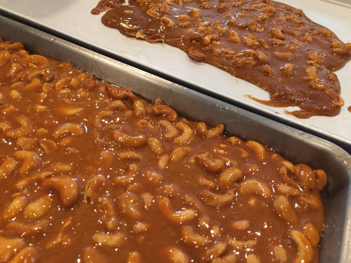cashew brittle gluten free vegan recipe from jessica's kitchen blog