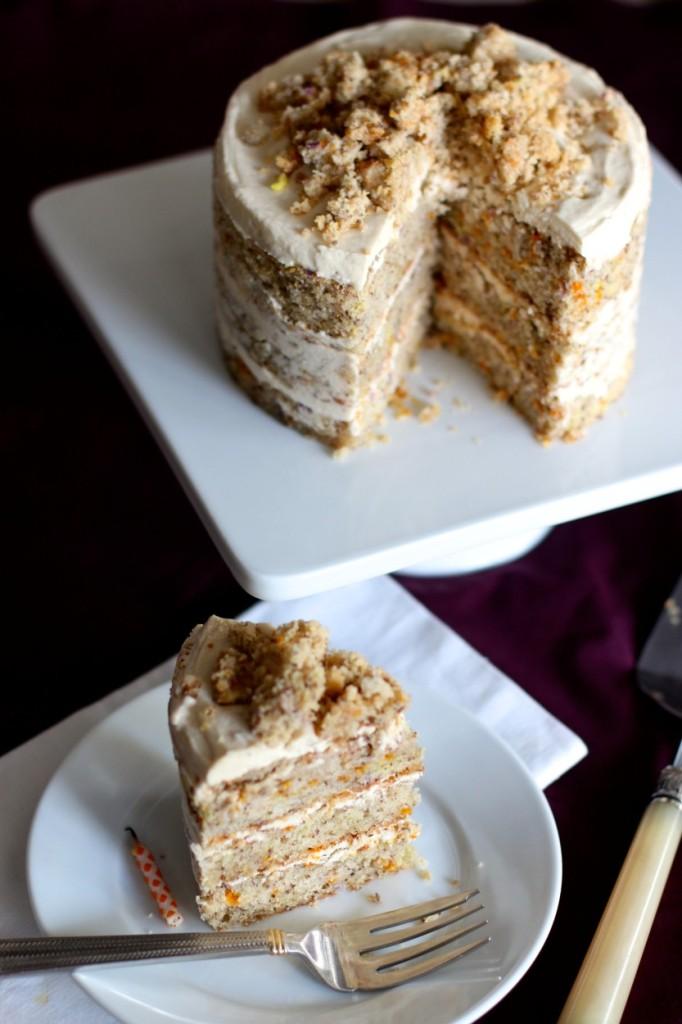 Momofuku Milk Bar Birthday Layer Cake made gluten free dairy