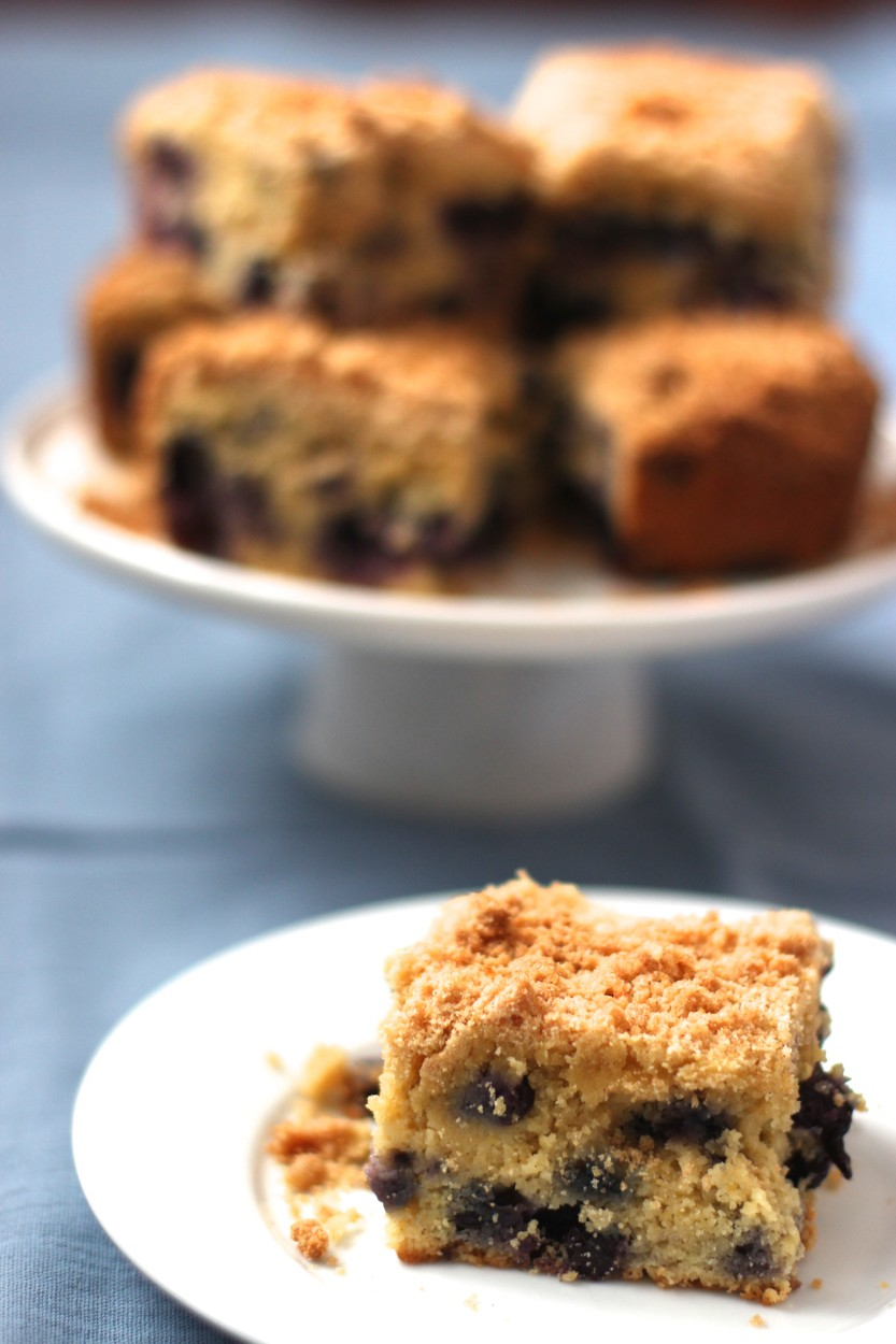 Blueberry Cornmeal Cake | From Jessica's Kitchen