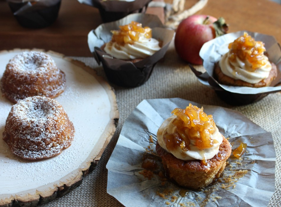 Apple Pie Spice Cupcakes and Teacakes – one batter, two ways