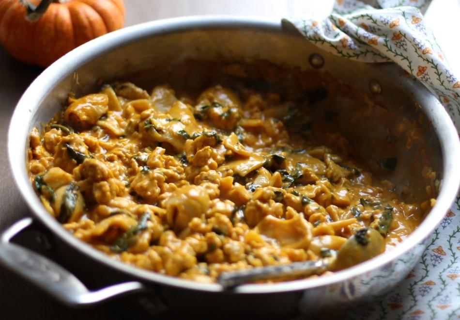 pumpkin-alfredo-skillet-pasta-with-chicken-gluten-free-dairy-free