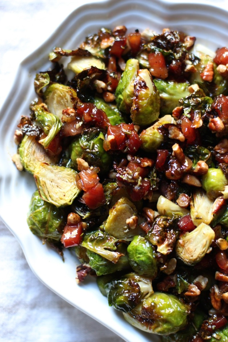 Brussels sprouts with glazed pancetta and pecans