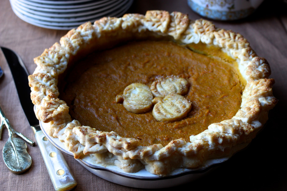 Pumpkin Sweet Potato Pie with Maple