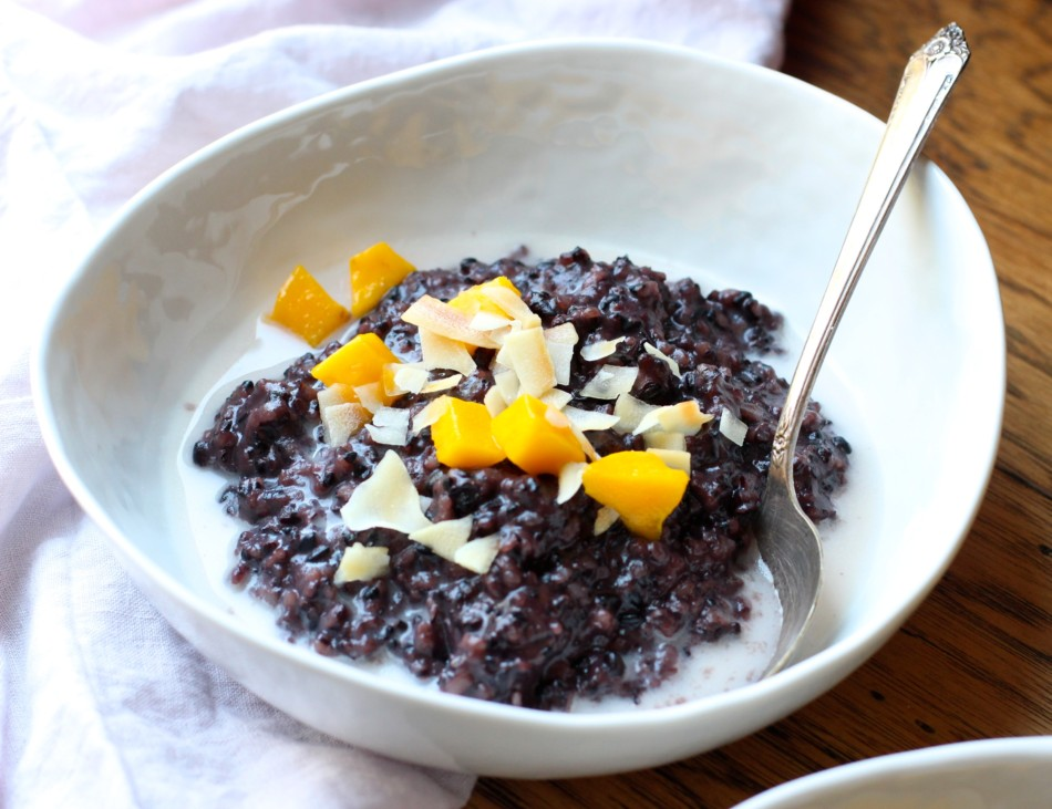 Forbidden Rice Breakfast Porridge (gluten free, soy free, vegan)