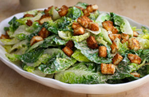 Classic Caesar Salad (gluten free, dairy free, egg free, soy free)