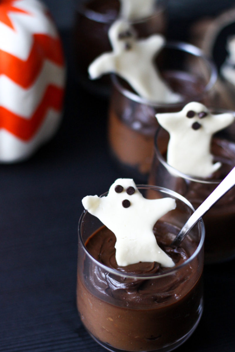 Chocolate Pot De Creme + White Chocolate Bark for Halloween (gluten free, paleo, soy free, vegan)