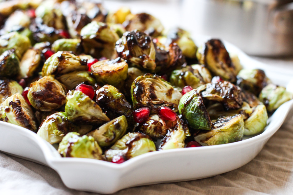 Balsamic Roasted Brussels Sprouts (gluten free, dairy free, nut free, paleo, soy free, sulfite free, vegan)