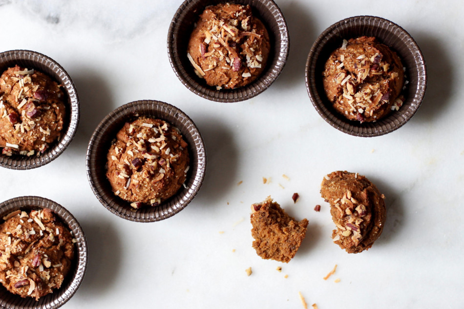 Pumpkin Pecan Muffins (gluten free, grain free, soy free, vegan)