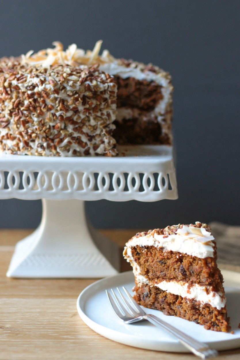 Carrot Cake With Cream Cheese Frosting Gluten Free Grain Free Egg