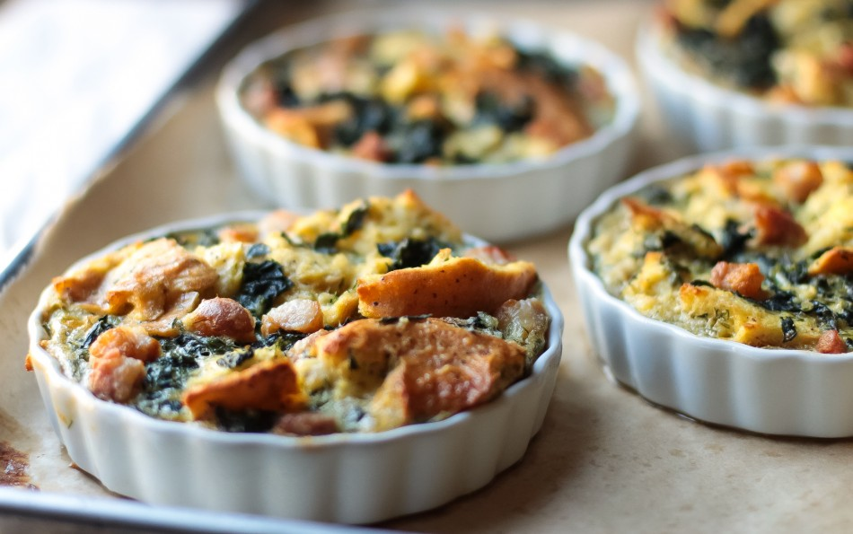 Egg Strata bagel egg kale strata (gluten free, dairy free, soy free) | from